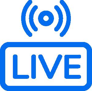 Live broadcast signal icon